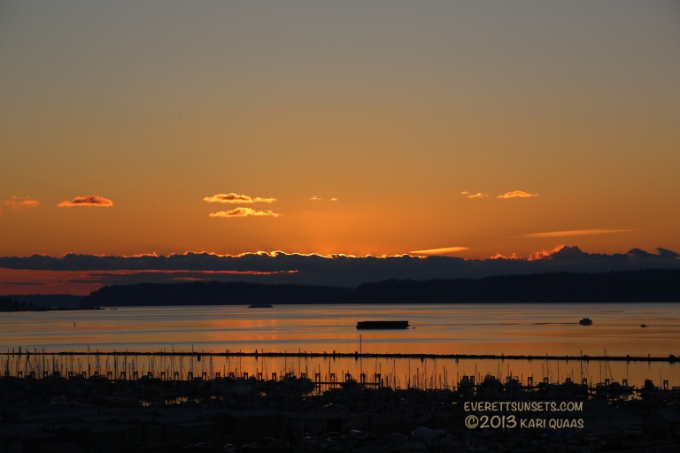 Sunset - December 4, 2013 - Everett, WA