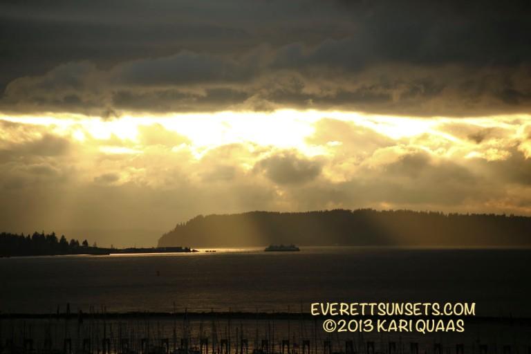 Sunset - December 12, 2013 by Kari Quaas