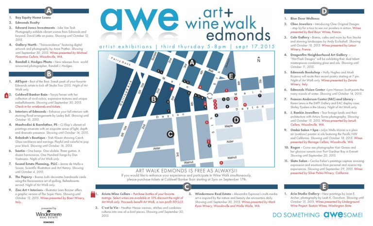 September 17, 2015 Edmonds Art Walk map
