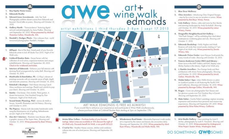 September 17, 2015 Edmonds Art Walk map